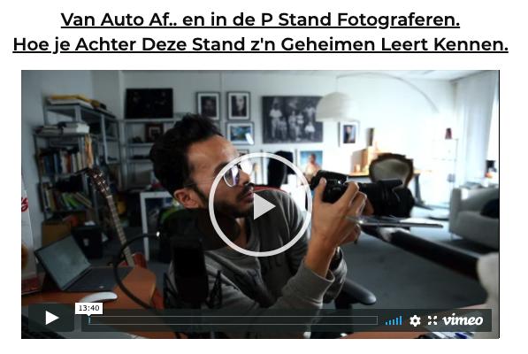 Fotograferen in de P-Stand